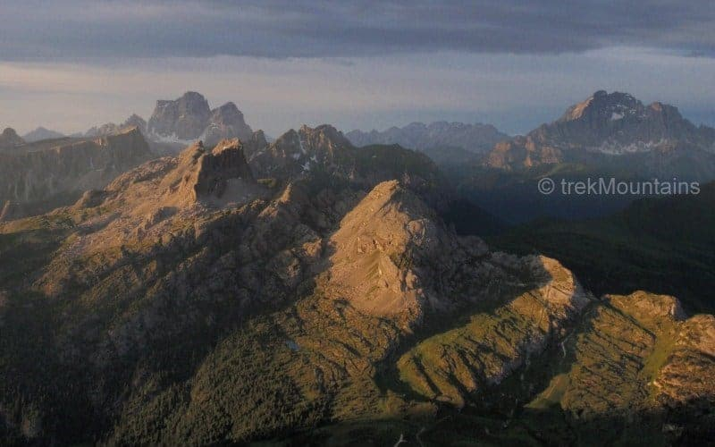 AV1 route from Rifugio Lagazuoi Alta Via 1 Dolomites (c) Ann Foulkes trekMountains