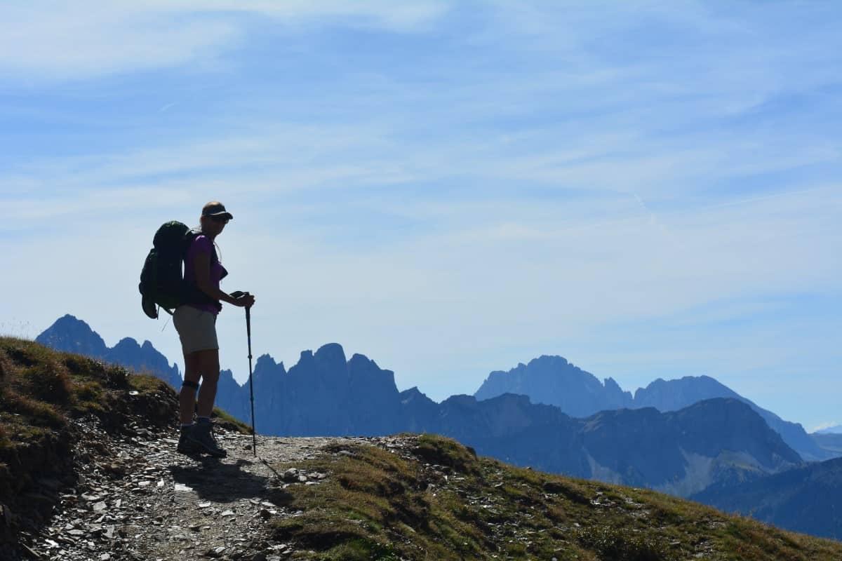 Alta Via 2 Dolomites Italy trekMountains Looking towards the Odles (c) Kurt Lybaert