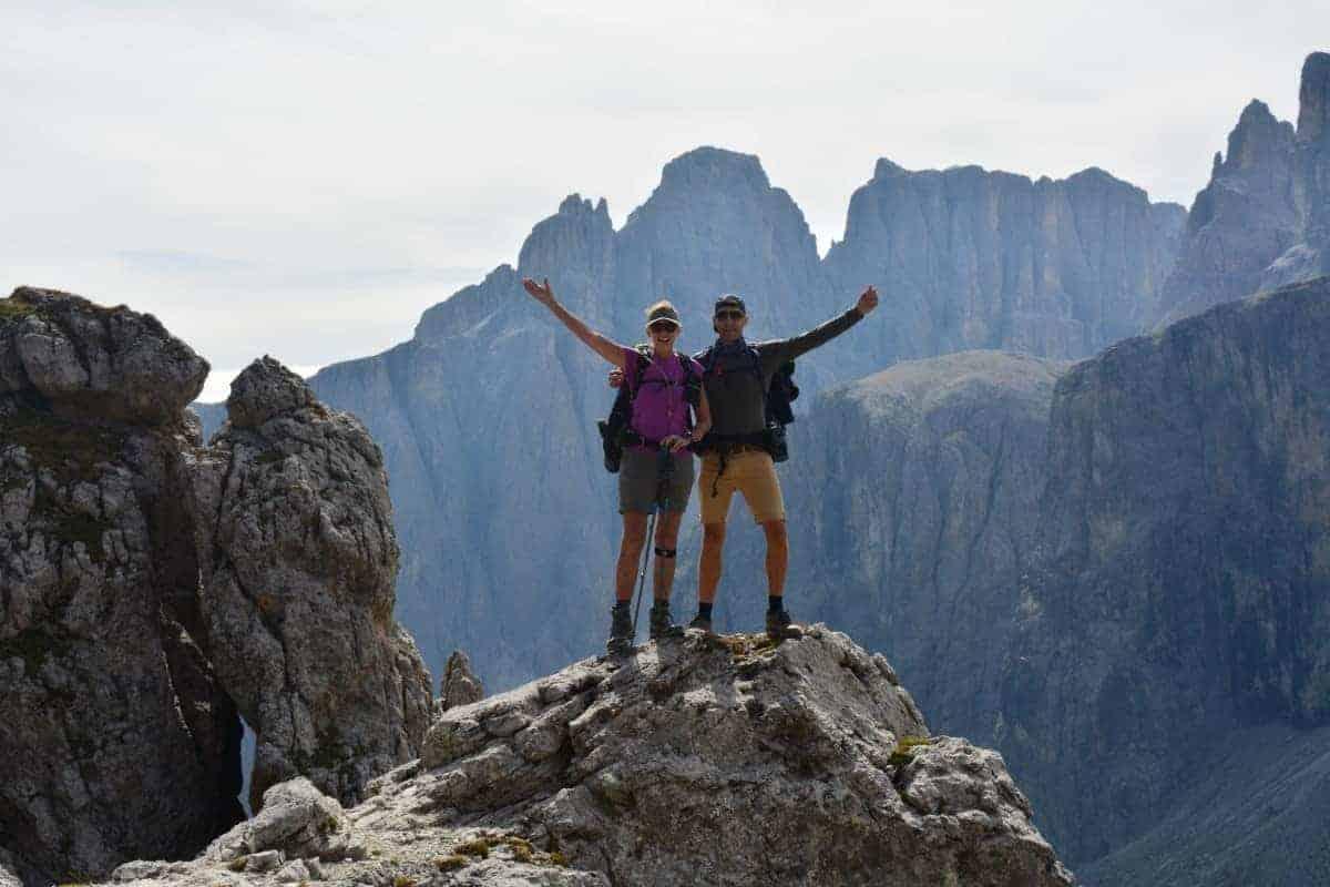 Alta Via 2 Dolomites Italy trekMountains Opposite the Sella (c) Kurt Lybaert