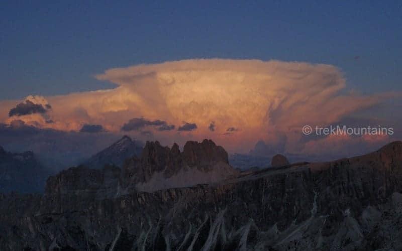 From Rifugio Nuvolau Alta Via 1 Dolomites (c) Ann Foulkes trekMountains